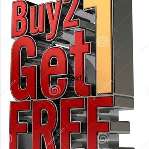 Buy 2 items get 1 of equal or lesser value FREE😃